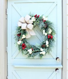 Christmas Wreath Farmhouse Christmas Fixer Upper Holiday