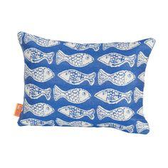 Found it at Wayfair - Coastal Fish Tales Indoor/Outdoor Lumbar Pillow