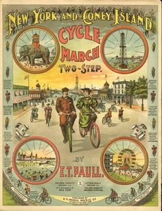 New York and Coney Island Cycle March, an old time-y celebration of the velocipede.