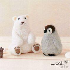 Polar Bear & Penguin Needle Felting Kit. $19.00, via Etsy.