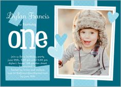 We Heart One Boy 5x7 Stationery Card by Stacy Claire Boyd