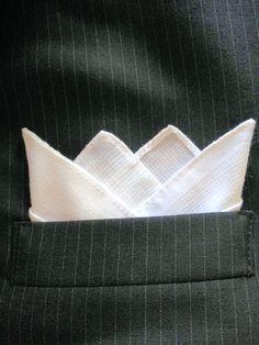 Custom prefolded /& Sewn POCKET SQUARE Ocean Blue 3 Point Satin