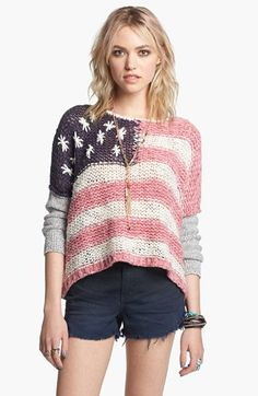 Free People Flag Sweater available at #Nordstrom. In love with this sweater