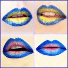 coca- cola Chupa Chups?  my blue-yellow lips https://www.facebook.com/MonikaWitek.MakeUp