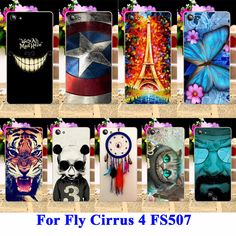 Soft TPU & Hard PC Cell Phone Cases For Fly Cirrus 4 Covers FS507 Housing Bags Skin Cool Captain American Painted Shell Hood #clothing,#shoes,#jewelry,#women,#men,#hats,#watches,#belts,#fashion,#style