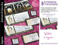 Invitacion con diseño de ticket de cine