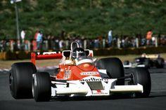 James Hunt (Japan 1977) James Simon Wallis Hunt (GBR) (Marlboro Team McLaren), McLaren M26 - Ford-Cosworth DFV 3.0 V8 (finished 1st) 1977 Japanese Grand Prix, Fuji Speedway