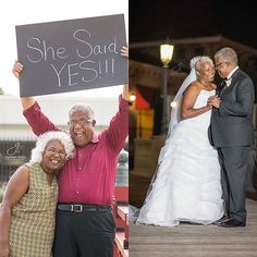 """Had to share!! Congratulations to the Myers!! #GrayHair #TheirGrayHairIsBeautiful Repost @gianna_snell_photography) """"edges"""" """"It's official!!!!! My celebrity clients , Murphy and Lucinda, who proved it's never too late to find love, have tied the knot! On Saturday, July 29, 70-year-old Murphy Wilson and 67-year-old Lucinda Myers exchanged vows and said """"I do"""" at the very place where their love began, the First Seventh-day Adventist Church in Huntsville, Alabama. Congratulations to this..."""