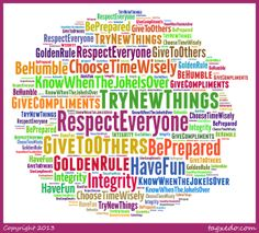 List of moral values for children in school