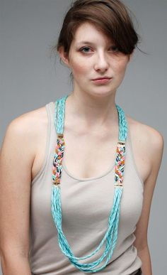 Fabric jewelry- I could make this!