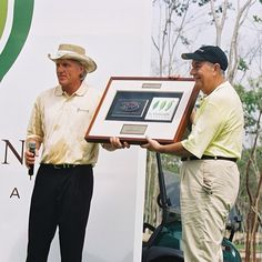 #ThrowbackThursday #TBT to June 22, 2005 at the spectacular official opening of the @SharkGregNorman designed #PGATOUR #golf course at Mayakoba – #ElCamaleón! #JuevesdeRecuerdo #JDR a Junio 22, 2005 a la spectacular inauguración de #ElCamaleón diseñado por @SharkGregNorman #PGATOUR #CampodelGolf en #Mayakoba