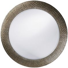 Howard Elliott Bergman Silver Round Mirror