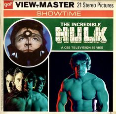 The Incredible Hulk View Master, Master Art, Weird Toys, Sci Fi Horror, Tv Land, Cartoon Tv, Incredible Hulk, Ol Days, Pop Rocks