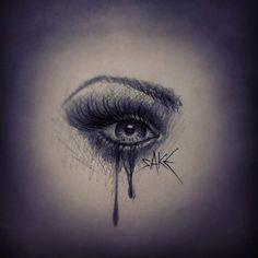 Weeping Eye Tattoo Design