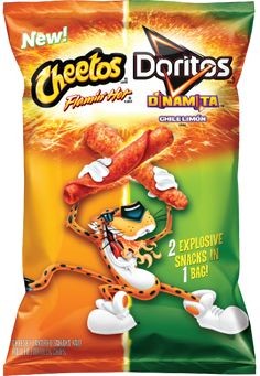 CHEETOS® Crunchy FLAMIN' HOT® Cheese Flavored Snacks & DORITOS® DINAMITA® Chile Limón Flavored Rolled Tortilla Chips
