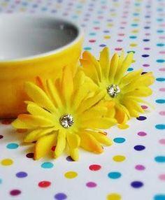 DIY Wrapped Jewelry  : DIY ASOS Fabric Flower Studs