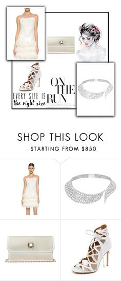 """""""Bridal Wear"""" by alice-287 ❤ liked on Polyvore featuring Marchesa, Messika, Elie Saab and Aquazzura"""