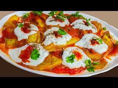 Borani Badenjan    بورانی بادنجان Lunch Snacks, Lunch Recipes, Vegetarian Recipes, Dinner Recipes, Cooking Recipes, Samosa Recipe, Iranian Food, Vegan Foods, Mediterranean Recipes
