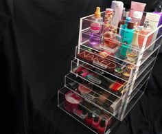 The problem with most makeup storage kits is that you can't see everything that's inside and you have to browse through and mess it all up. But if you have a clear acrylic storage system then everything becomes easier. You can just look and see exactly where the item that you need is and then just take it.