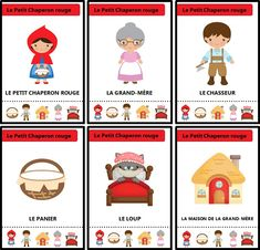 Jeu des sept familles des contes traditionnels : Le Petit Chaperon rouge Pop Up Karten, Grande Section, Wolf, French Language Learning, Tot School, Teaching French, Preschool Worksheets, Red Riding Hood, Little Red