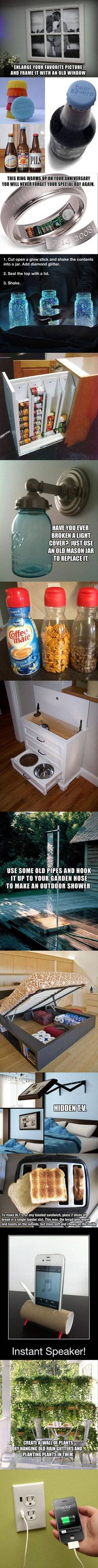 These are some cool and creative ideas for your home.