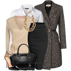 Tweed Wrap Coat