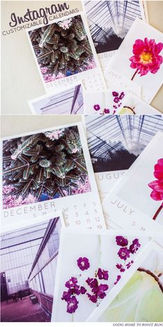 2015 printable instagram calendars - customizable template or ready-made to print!