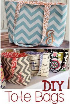 Sew Bag - Need DIY tote bag ideas? Try this handmade tote bag pattern for an easy DIY tote bag. This easy tote bag pattern is perfect for beginners advanced sewers. Diy Sewing Projects, Sewing Projects For Beginners, Sewing Hacks, Sewing Crafts, Sewing Tips, Sewing Tutorials, Bags Sewing, Sewing Basics, Sewing Box