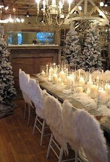 lovely winter tablescape and she has a great blog with other ideas