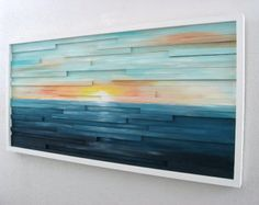 Abstract Landscape Painting on Wood Abstract Wall Art