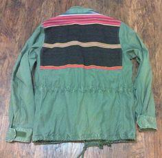 Denim Supply Ralph Lauren Men Vintage Military Army Colorful Field Coat Jackets