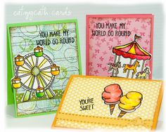 Lawn Fawn - Admit One _ Adorable Mini-cards by Catherine via Flickr - Photo Sharing! {pin of the day}