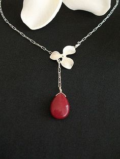 Lariat Nacklace - Orchid
