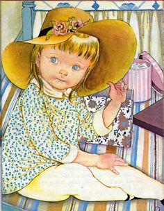 Revisit - joslinde/artist-eloise-wilkin/ - Where Did The Baby Go? Little Golden Book, By Sheila Hayes. Illustrations by Eloise Wilkin. Vintage Children's Books, Vintage Art, Little Golden Books, Children's Literature, Children's Book Illustration, Brighton, Book Art, Artsy, Drawings