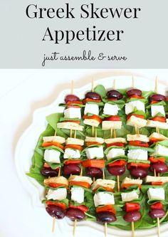 Greek skewer appetizer recipe http://mysoulfulhome.com