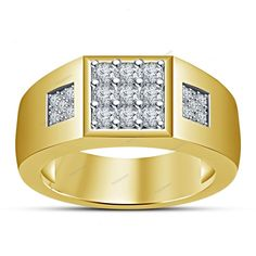 Men's 0.46 CT. T.W. D/VVS1 Diamond 925 Silver Wedding & Anniversary Band…