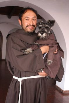Rescued Monastery Dog is the Newest Member of Franciscan Brotherhood