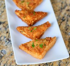 Shrimp Toasts by Buentello Buentello Shrimp Dishes, Shrimp Recipes, Fish Recipes, Great Recipes, Shrimp Toast, Good Food, Yummy Food, Asian Cooking, Shrimp Fritters