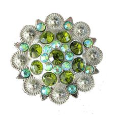 Crystal Drawer Knob with Green and light Green Crystals