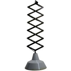 For Sale on - Scissor varia steel pendant. Weight: kg / lb Priced per individual item. All lamps have Vintage Industrial Lighting, Industrial Pendant Lights, Pendant Lighting, Chandeliers, White Interior Design, Hanging Pendants, White Enamel, Ceiling Lamp, Light Bulb