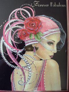 Pink - clintons art deco ladies - Google Search