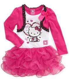 NEW Sanrio Hello Kitty Shrug Tutu Dress Size 2T 3T   eBay