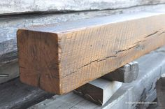 This little beam has a nice bit of character — circle saw marks, nail holes, a meandering crack and a nice warm color. This beam came from a small barn near Afton, Minnesota Rustic Fireplace Mantels, Little Barn, Small Barns, Nail Holes, Flower Seeds, Warm Colors, Beams, Woodworking, Log Cabins