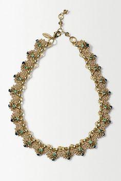 St. Erasmus Crochet Gild Necklace #anthropologie