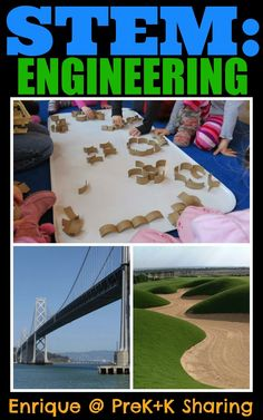 STEM: Engineering Introduction for PreK+K Sharing.... might be a good approach to a month long curriculum theme!