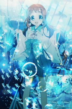 [ Wallpaper #8 ] Under the sea by RinfuKatori Manga Shojo, Shoujo, Manga Anime, Anime Art, Yui And Ayato, Me Me Me Anime, All Anime, Kawaii Anime Girl, Manhwa