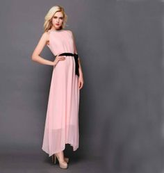 2014 New Arrival Star Style Maxi Dress Diamond With Belt $17.98