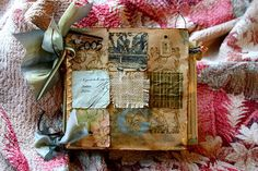 Paper bag book by Eileen Terwilliger.  Picture for inspiration only. [Good way to display inchies.]
