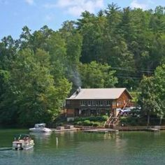 Pontoon Boat Included With Rental Lake Lure House Rental