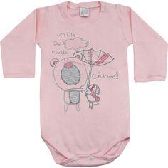 Body de Bebê Menina com Bordado Rosa - Patimini :: 764 Kids | Roupa bebê e infantil